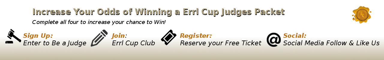 steps to win errl cup judges packet